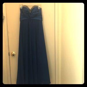 Dresses & Skirts - Royal blue chiffon formal dress